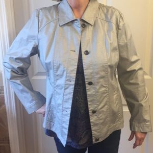 Chico jacket size 2- silver NWT